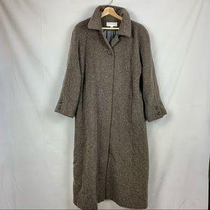 JONES NEW YORK Full Length Wool & Mohair Winter Coat Sz 8P